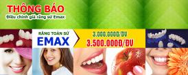 điều chỉnh giá răng toàn sứ emax