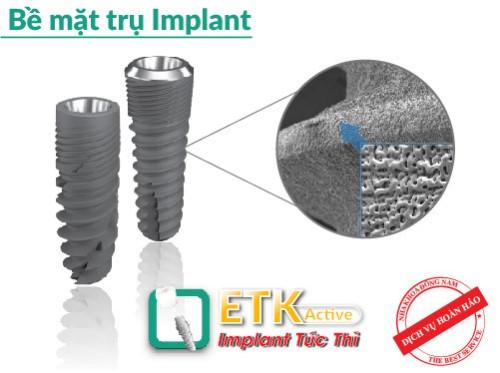 cấu tạo trụ implant etk active