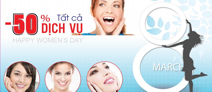 nha khoa khuyến mãi quốc tế phụ nữ 8 tháng 3