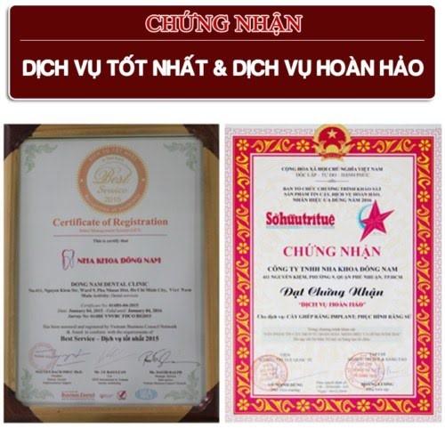 giấy chứng nhận dịch vụ