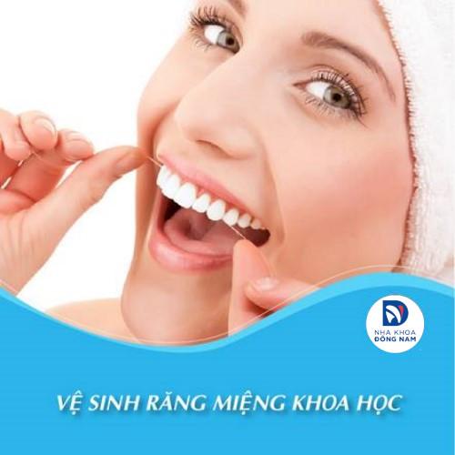 vệ sinh răng miệng khi trồng răng sứ