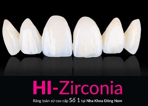 Răng toàn sứ cao cấp HI_Zirconia