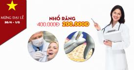 nha khoa giảm giá 50% nhổ răng nhân dịp 30 tháng 4 -1