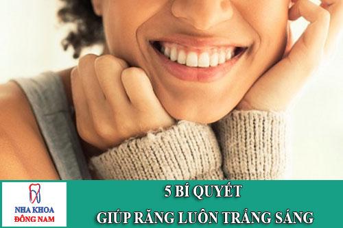 5 bí quyết giúp răng trắng sáng