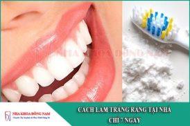 cách làm trắng răng tại nhà chỉ 7 ngày