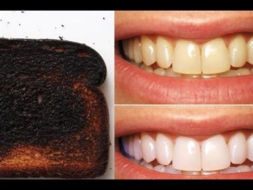 tẩy trắng răng bằng bánh mì cháy