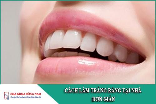 Những cách làm trắng răng tại nhà đơn giản