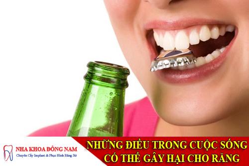 những điều trong cuộc sống có thể gây hại cho răng -1
