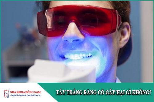 tẩy trắng răng có gây hại gì không