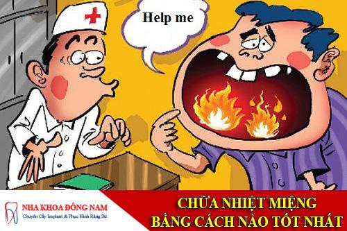 chữa bệnh nhiệt miệng bằng cách nào