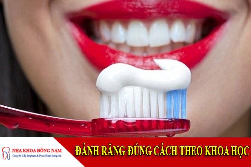 đánh răng đúng cách theo khoa học