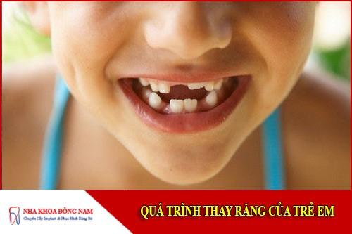 quá trình thay răng ở trẻ em