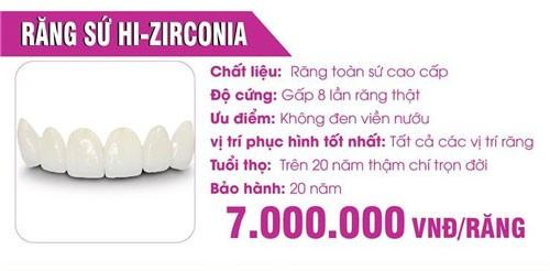 đặc điểm của răng sứ cao cấp hi-zirconia