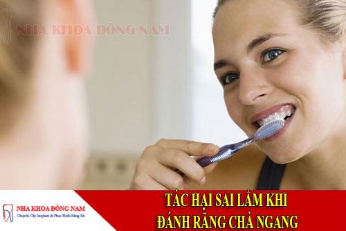 tác hại sau khi đánh răng chà ngang