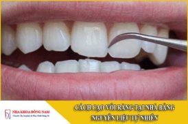 cách cạo vôi răng tại nhà bằng nguyên liệu tự nhiên
