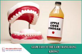 giấm táo có thể làm trắng răng không