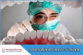 kinh nghiệm đi làm răng sứ thẩm mỹ
