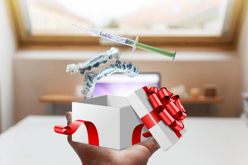 tặng máng và thuốc duy trì tẩy trắng tại nhà