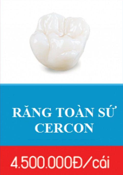 trồng răng sứ cercon hiện nay giá bao nhiêu 4