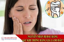 nguyên nhân bị đau răng sau khi trồng răng giả là do đâu