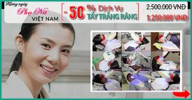 nha khoa đông nam giảm 50% giá tẩy trắng răng nhân ngày phụ nữ việt nam 20/10