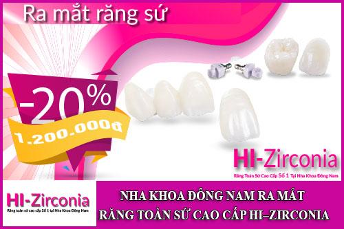 nha khoa đông nam ra mắt răng toàn sứ cao cấp hi–zirconia