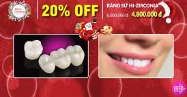 nha khoa Đông Nam khuyến mãi chương trình noel và tết tây 2017 răng sứ hi-zirconia