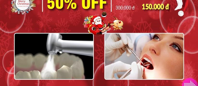 nha khoa Đông Nam khuyến mãi chương trình noel và tết tây 2017 dịch vụ trám răng