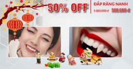 Nha khoa Đông Nam Khuyến mãi 50% dịch vụ đắp răng nanh