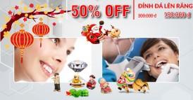 Nha khoa Đông Nam Khuyến mãi 50% đính đá lên răng