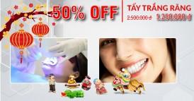 Nha khoa Đông Nam Khuyến mãi 50% dịch vụ tẩy trắng răng