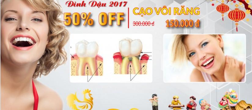 Nha khoa Đông Nam giảm 50% dịch vụ cạo vôi răng