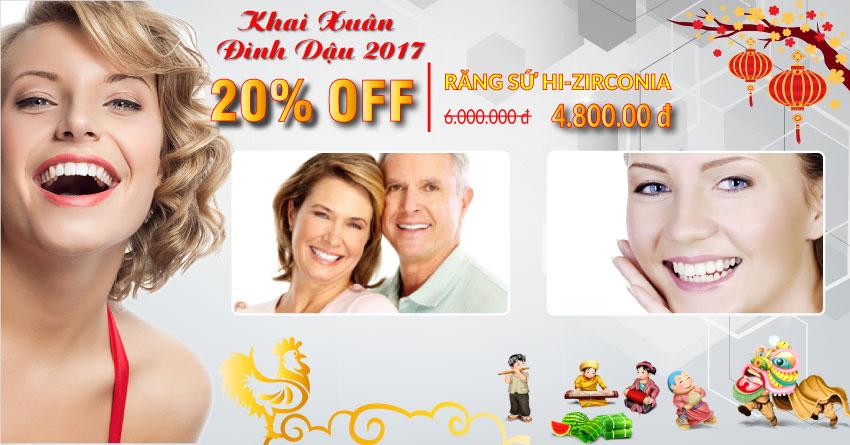 Nha khoa Đông Nam giảm 50% dịch vụ răng sứ Hi-Zirconia