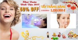 Nha khoa Đông Nam khuyến mãi 50% tẩy trằng răng