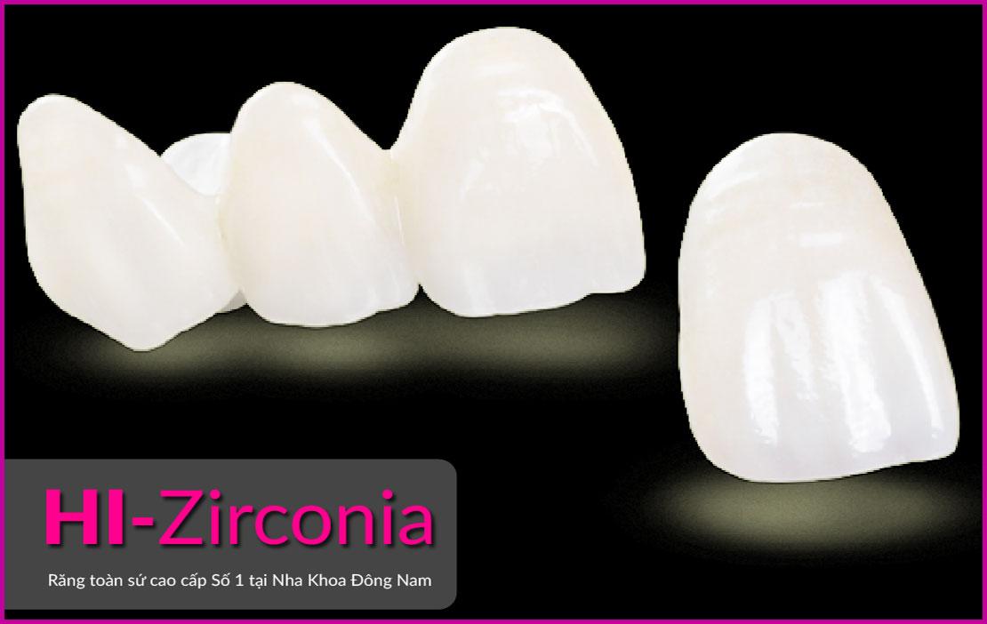 răng toàn sứ cao cấp HI-Zirconia