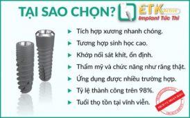 Vì Sao Nên Chọn Implant ETK Active Để Cấy Ghép?