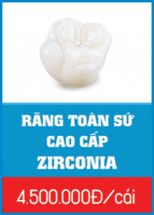 Bảng giá răng sứ Zirconia tại Nha Khoa Đông Nam 4