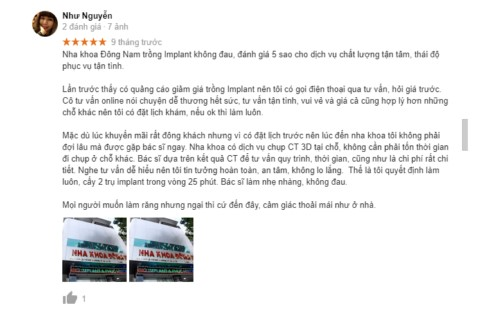 review trồng răng implant