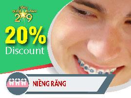 chỉnh nha niềng răng nha khoa Đông Nam khuyến mãi quốc khánh 2-9