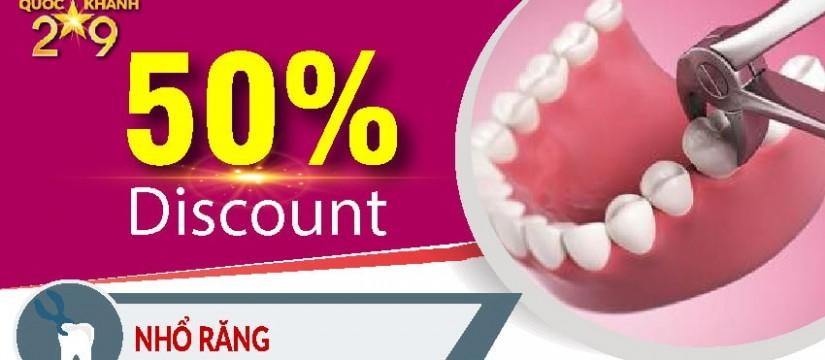Khuyến mãi nha khoa mừng quốc khánh 2-9 - nhổ răng