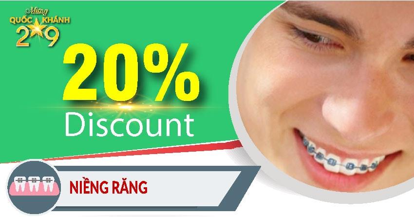 Khuyến mãi nha khoa mừng quốc khánh 2-9 - niềng răng chỉnh nha
