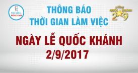 nha khoa đông nam thông báo lịch làm việc 2/9/2017
