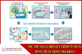 quy trình vô trùng đúng chuẩn nha khoa