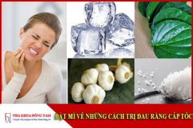 Bí mật về cách chữa trị đau răng cấp tốc