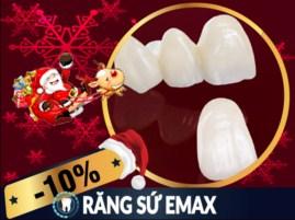 Khuyến mãi Noel 2017 và tết tây 2018 dịch vụ răng sứ Emax