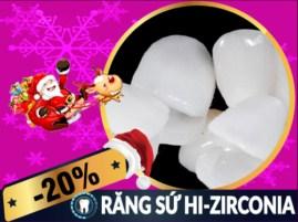 Khuyến mãi Noel 2017 và tết tây 2018 dịch vụ răng sứ Hi-Zirconia