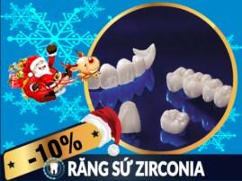 Khuyến mãi Noel 2017 và tết tây 2018 dịch vụ răng sứ Zirconia