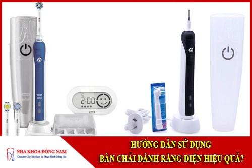 Hướng dẫn sử dụng bàn chải đánh răng điện