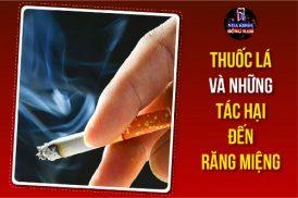 thuốc lá và những tác hại đến răng miệng
