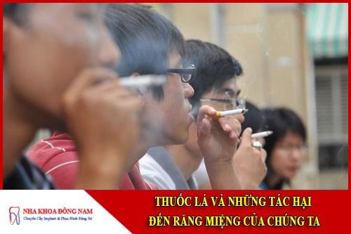 thuốc lá và những tác hại đến răng miệng của chúng ta